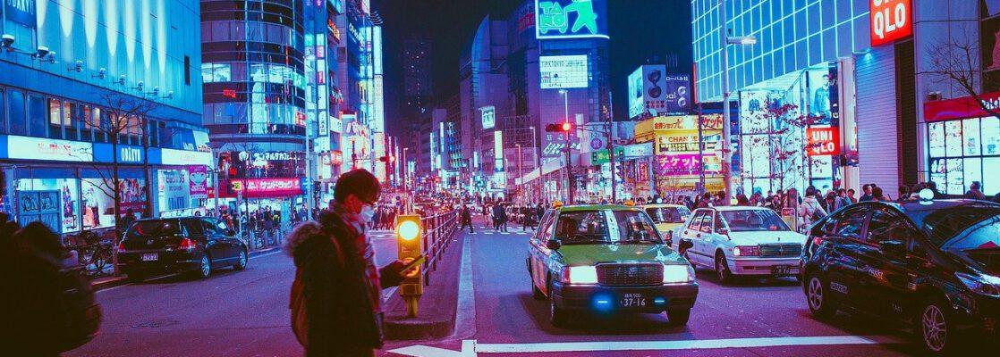 japan, osaka, night