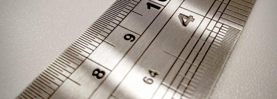 metal ruler, metal, measures